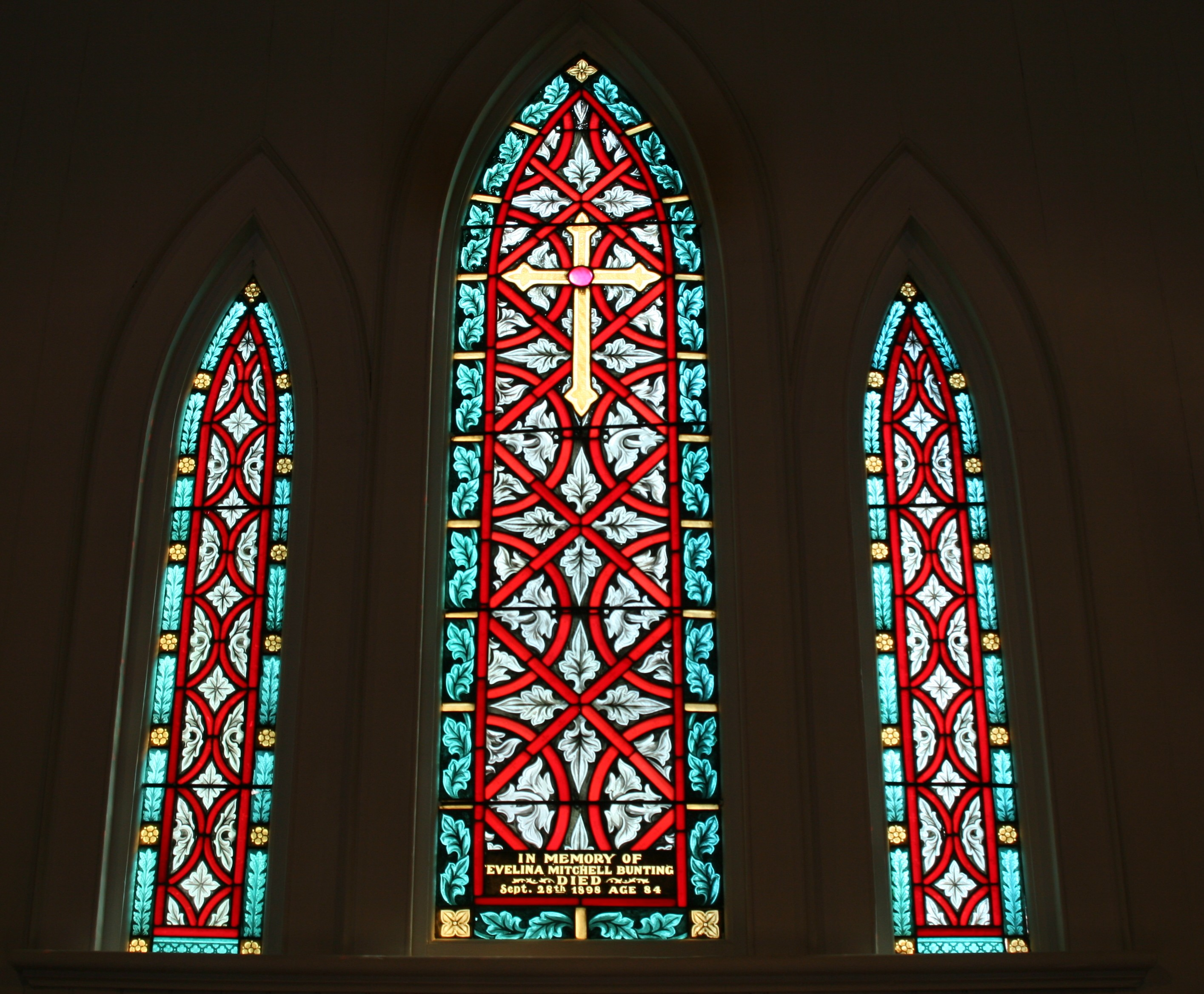 Windows st james 39 episcopal church for 2 pane window