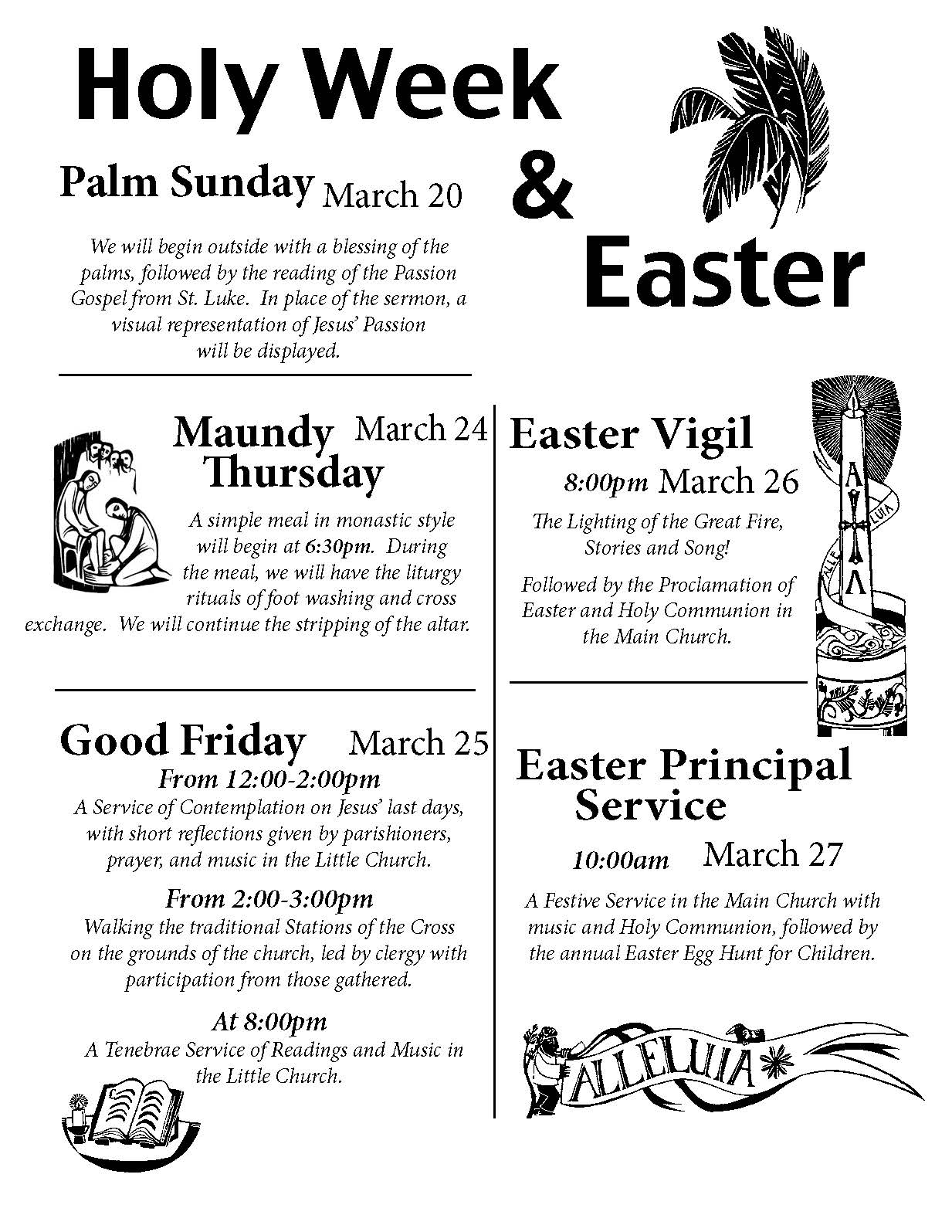 Saint James' Episcopal Church » Holy Week and Easter Events